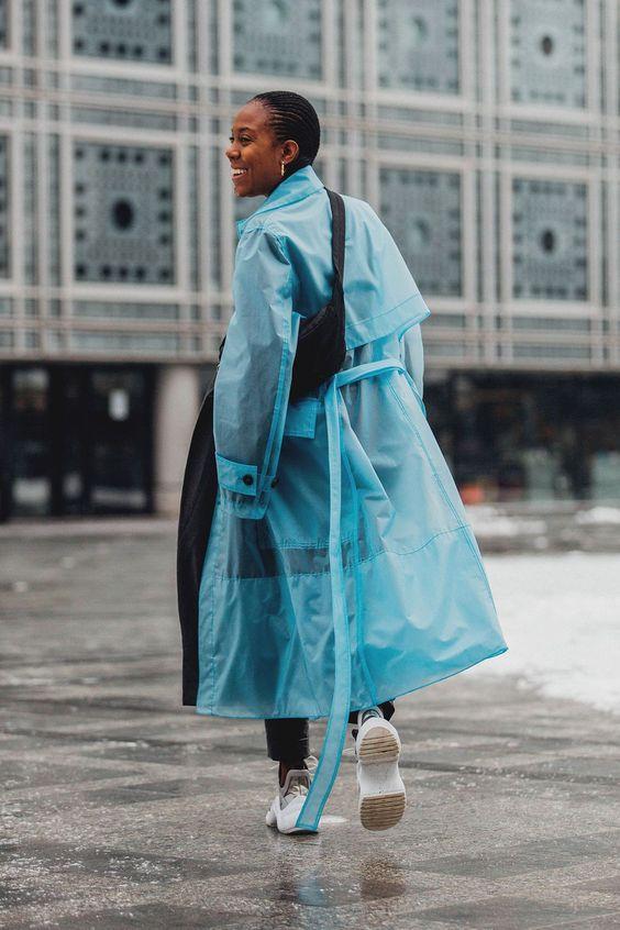 phong cách phối đồ ngày mưa