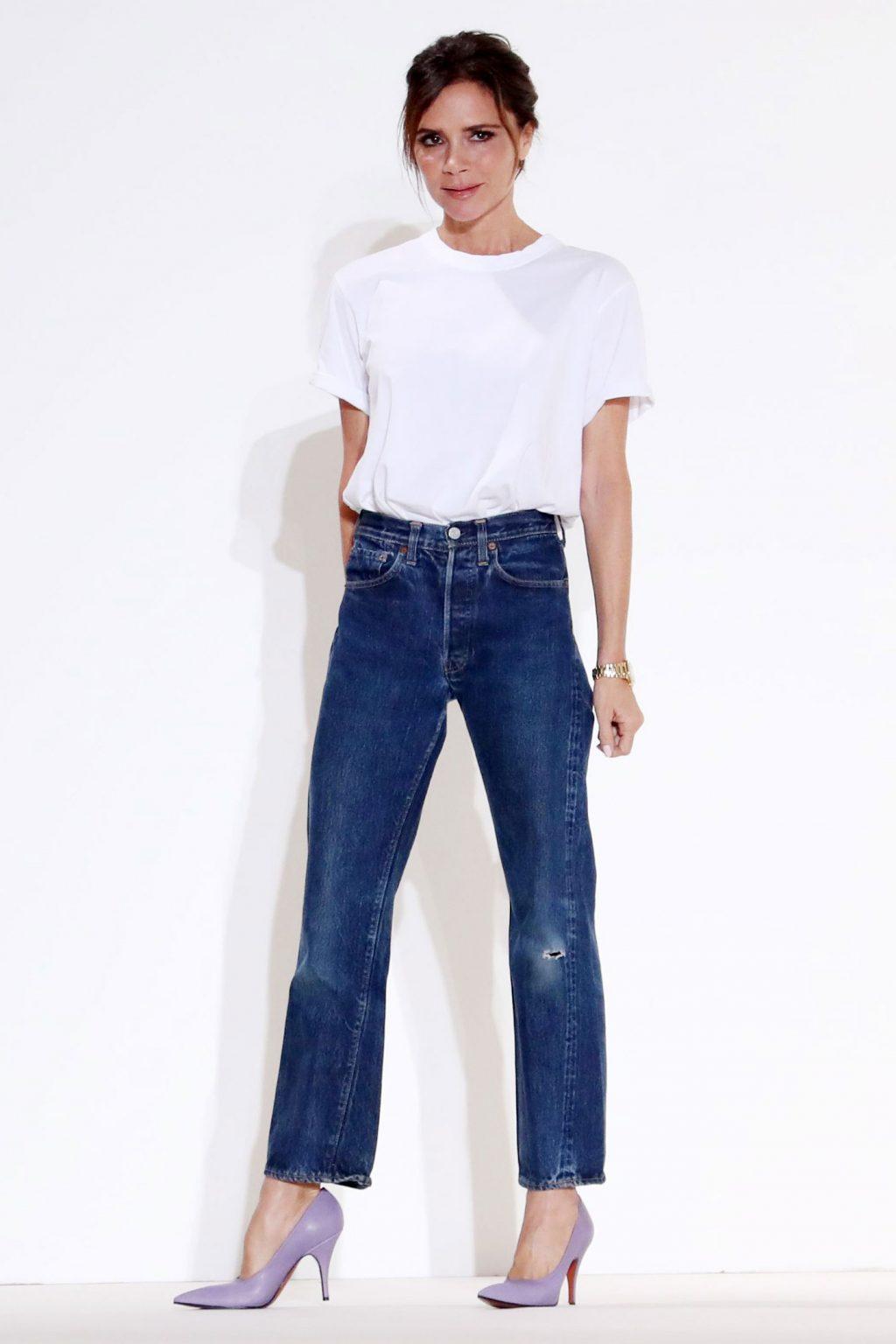 áo T-Shirt trắng Victoria Beckham 2