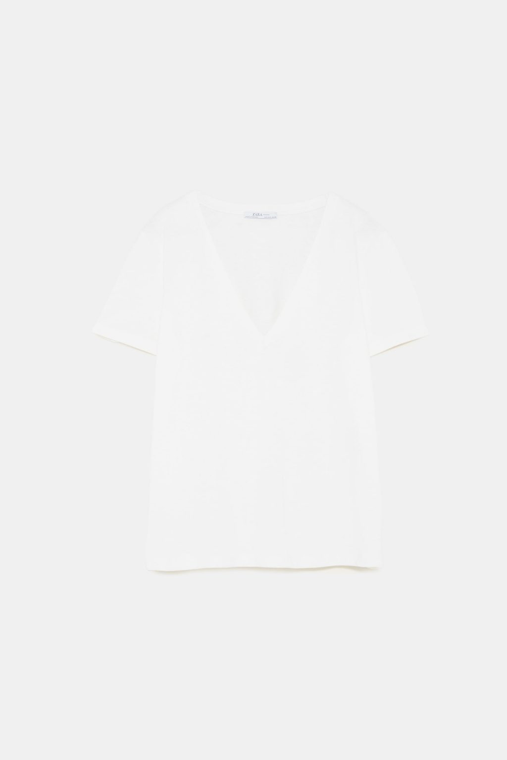 áo thun trắng zara