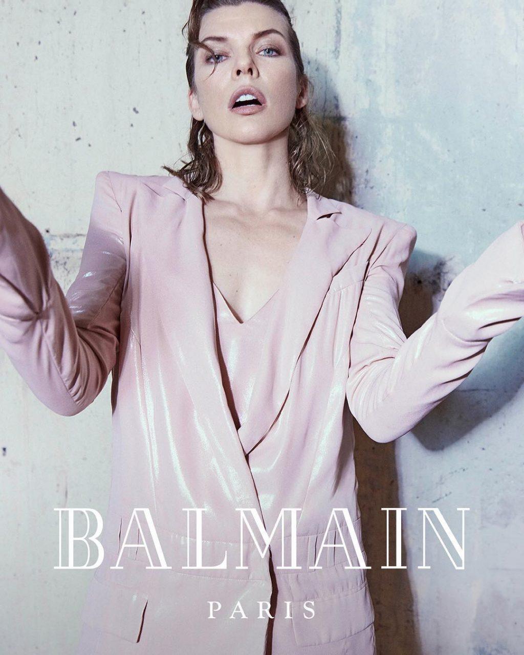 Milla Jovovich tái xuất trong bộ ảnh thời trang Balmain 2
