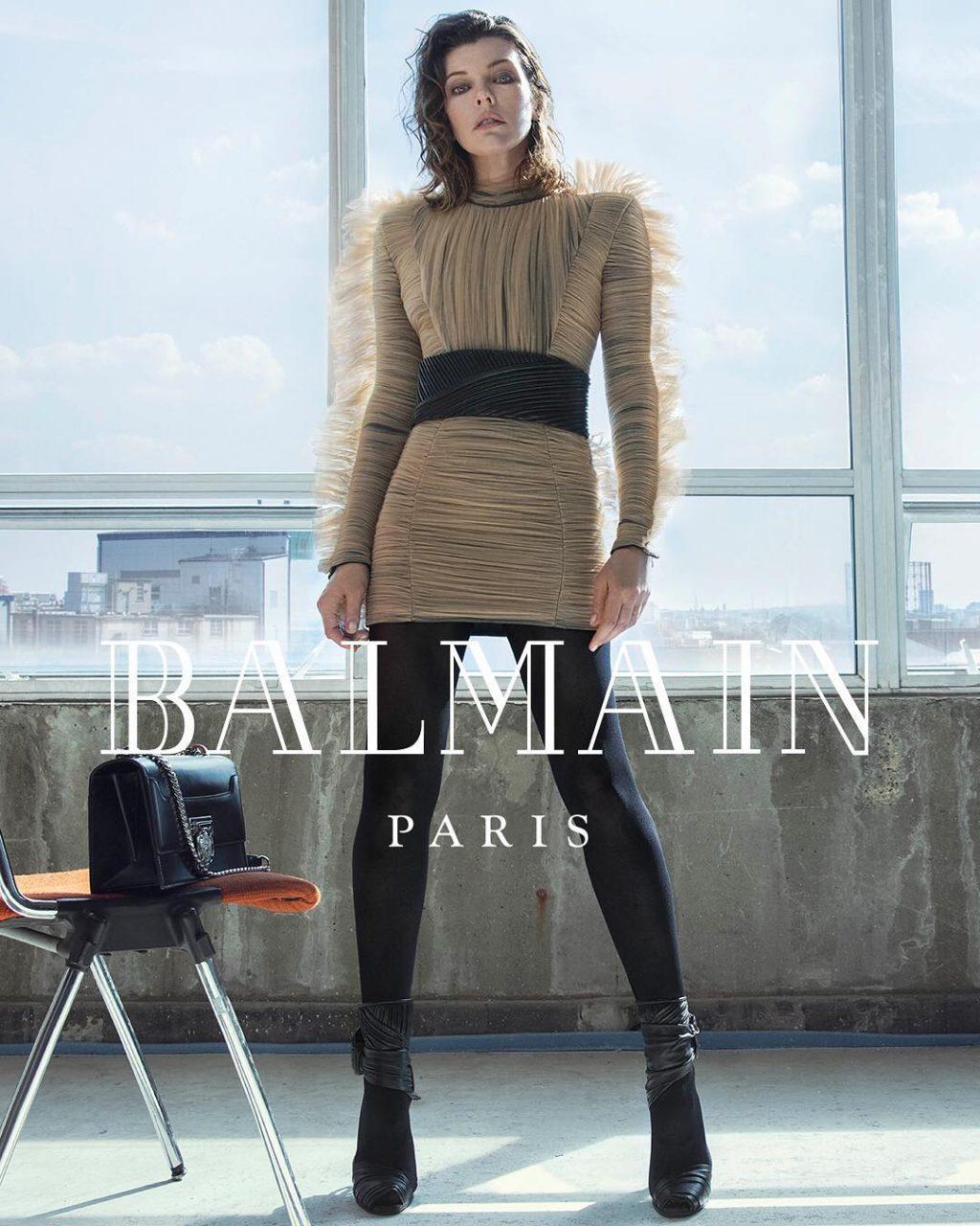 Milla Jovovich tái xuất trong bộ ảnh thời trang Balmain 4