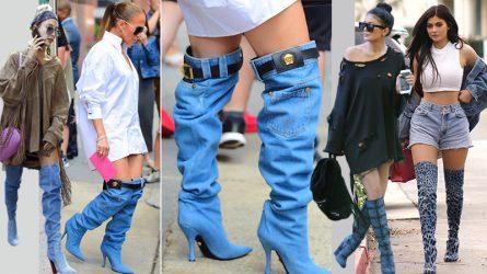 Jennifer Lopez ra phố với giày bốt giống hệt một chiếc quần jeans