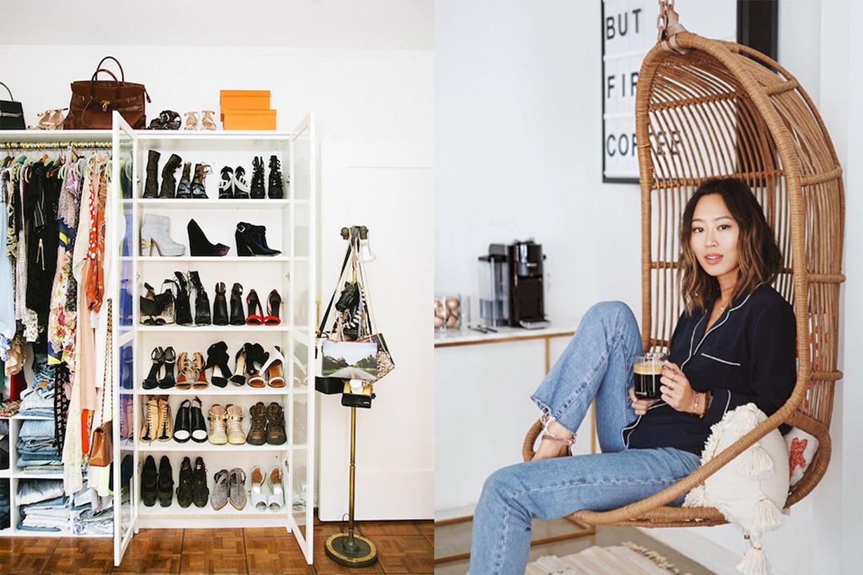 blogger sắp xếp tủ quần áo aimee song