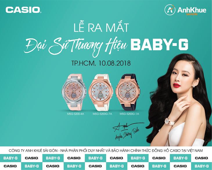 đại sứ thương hiệu đồng hồ baby-g