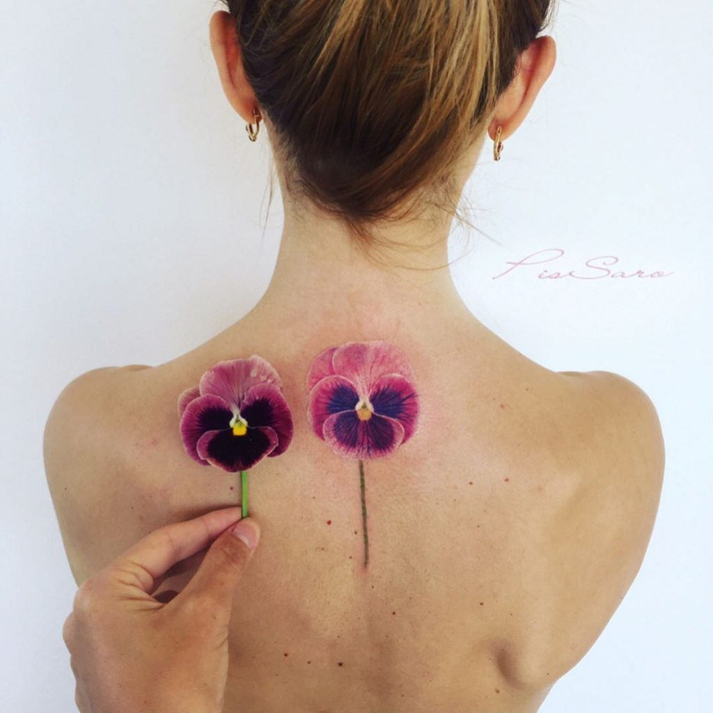 hình xăm hoa_pissaro_tattoo3