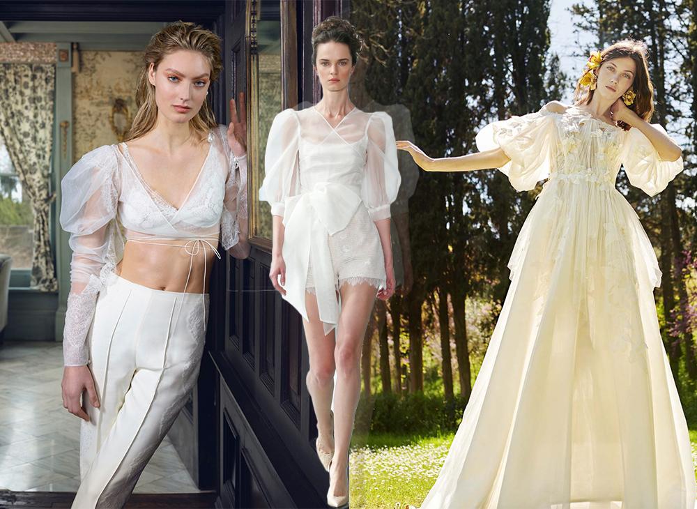 xu hướng thời trang váy cưới nổi bật năm 2020