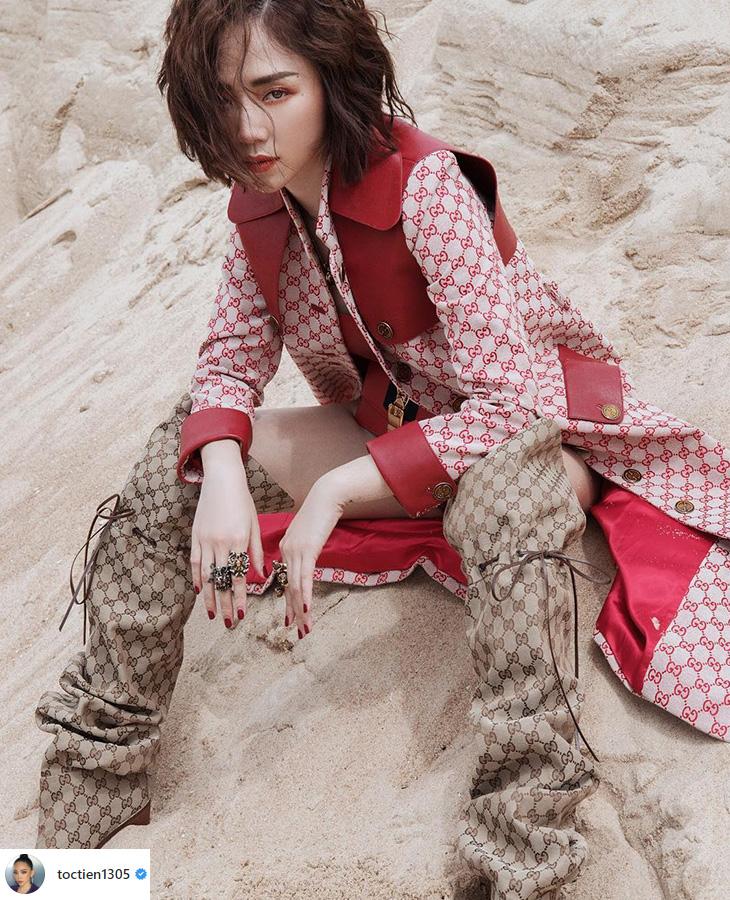 boots cao cổ Tóc Tiên
