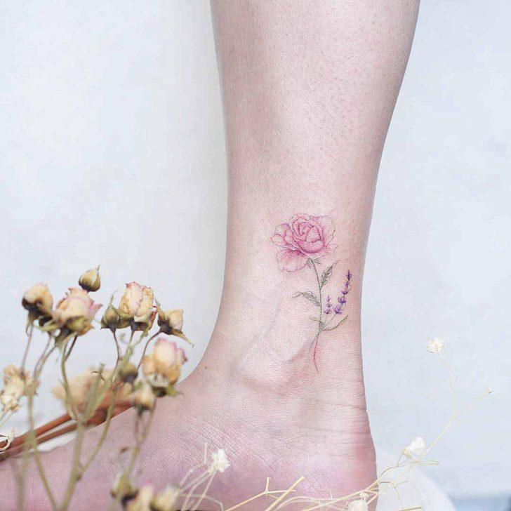 hình xăm cổ chân 13