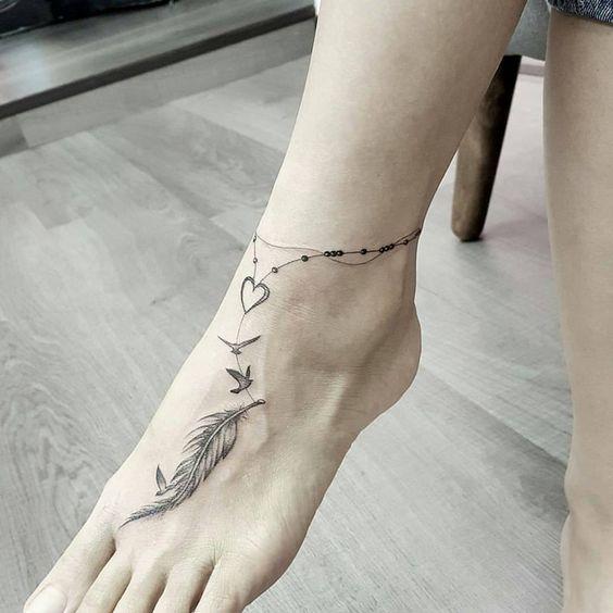 hình xăm cổ chân 6