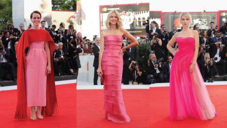 Sắc hồng chiếm lĩnh thời trang thảm đỏ Liên hoan phim Venice