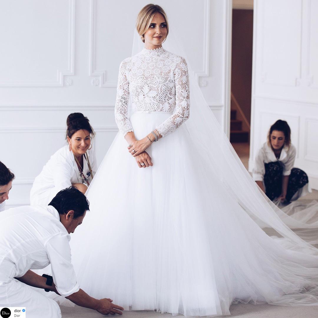 váy cưới của Chiara Ferragni 1