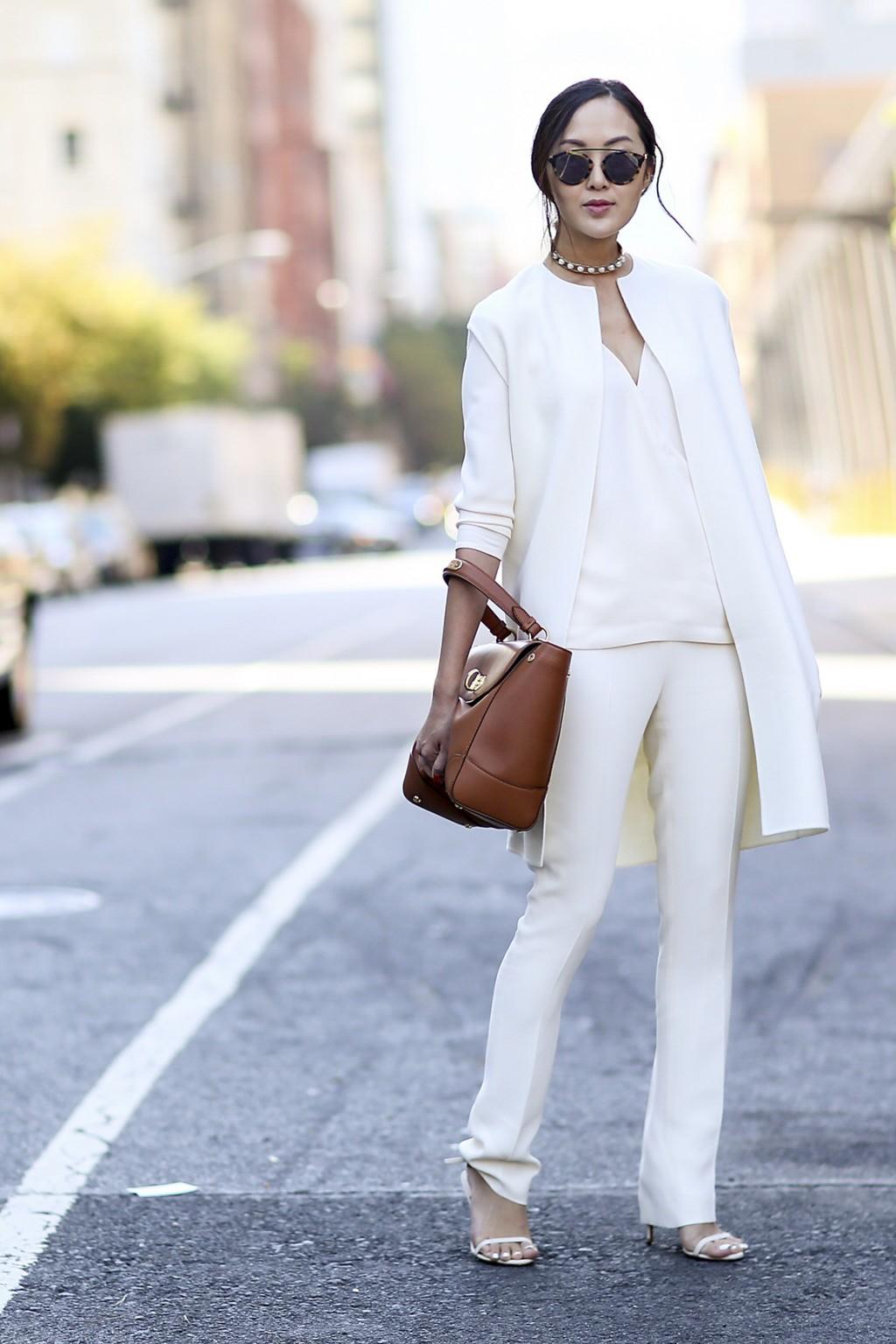 phong cách thời trang tinh tế cùng sắc trắng đen 1
