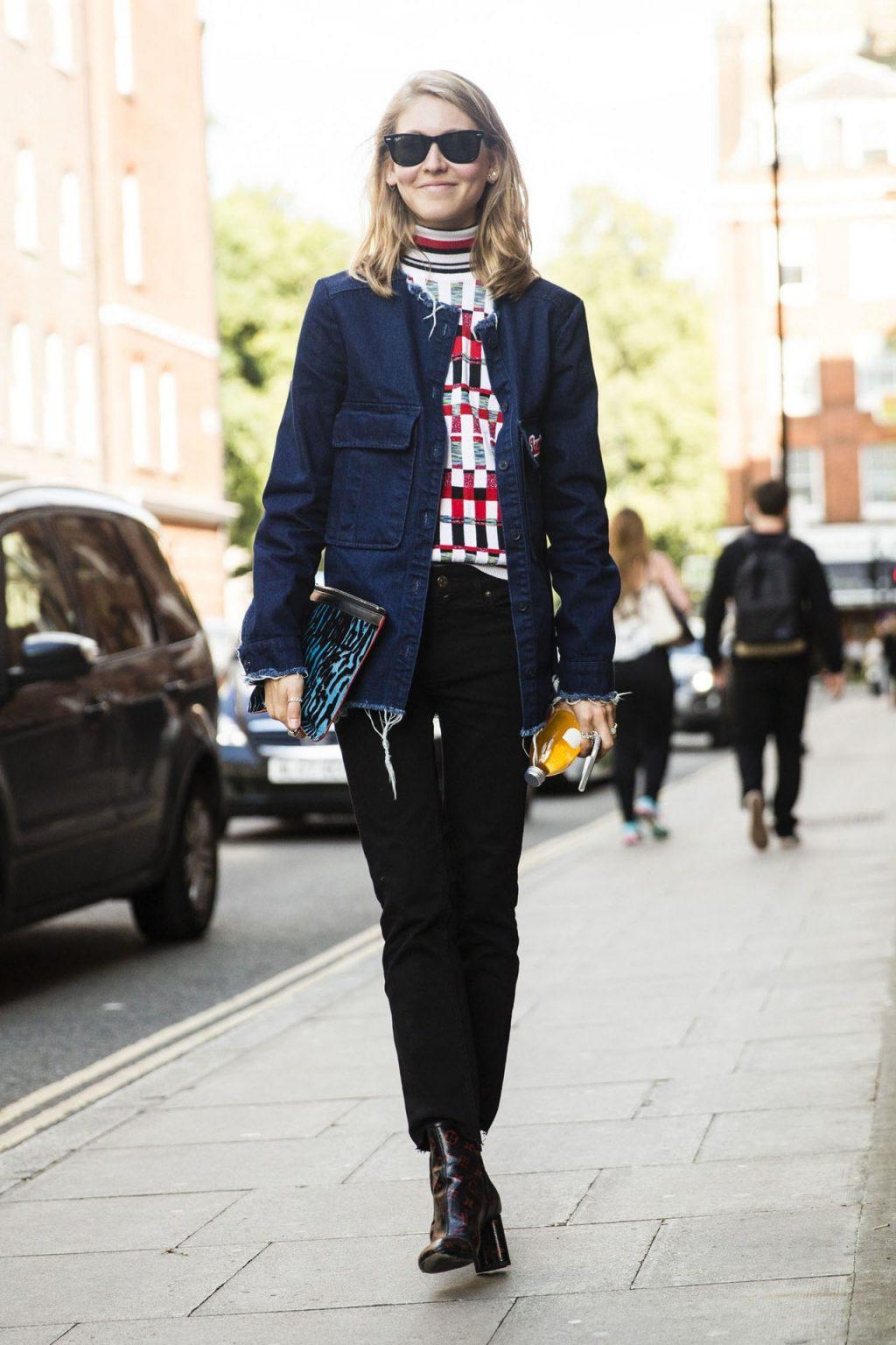 ELLE style calendar quần jeans dáng dài 2