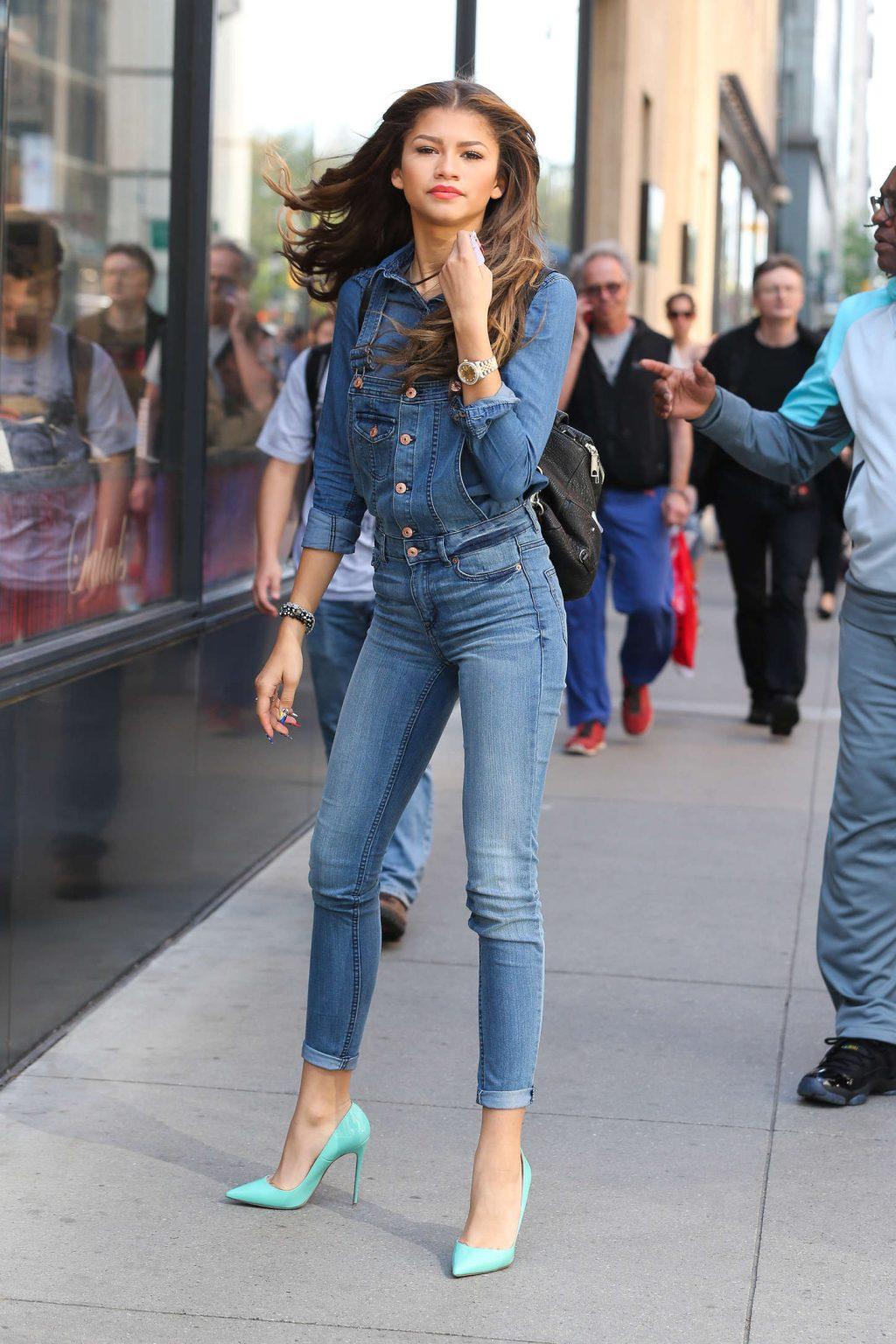 ELLE style calendar quần jeans dáng dài 6