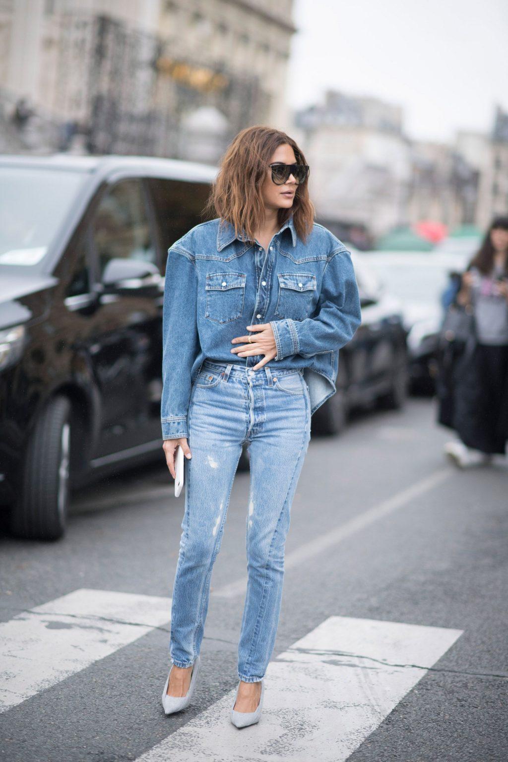 ELLE style calendar quần jeans dáng dài 7