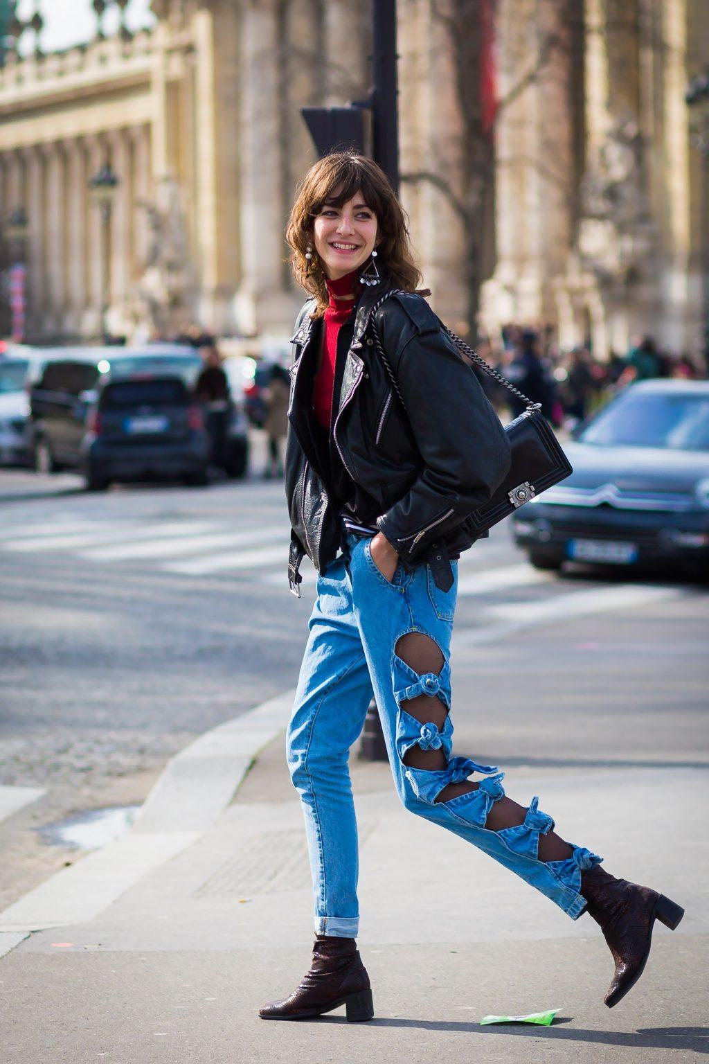 ELLE style calendar quần jeans dáng dài 9