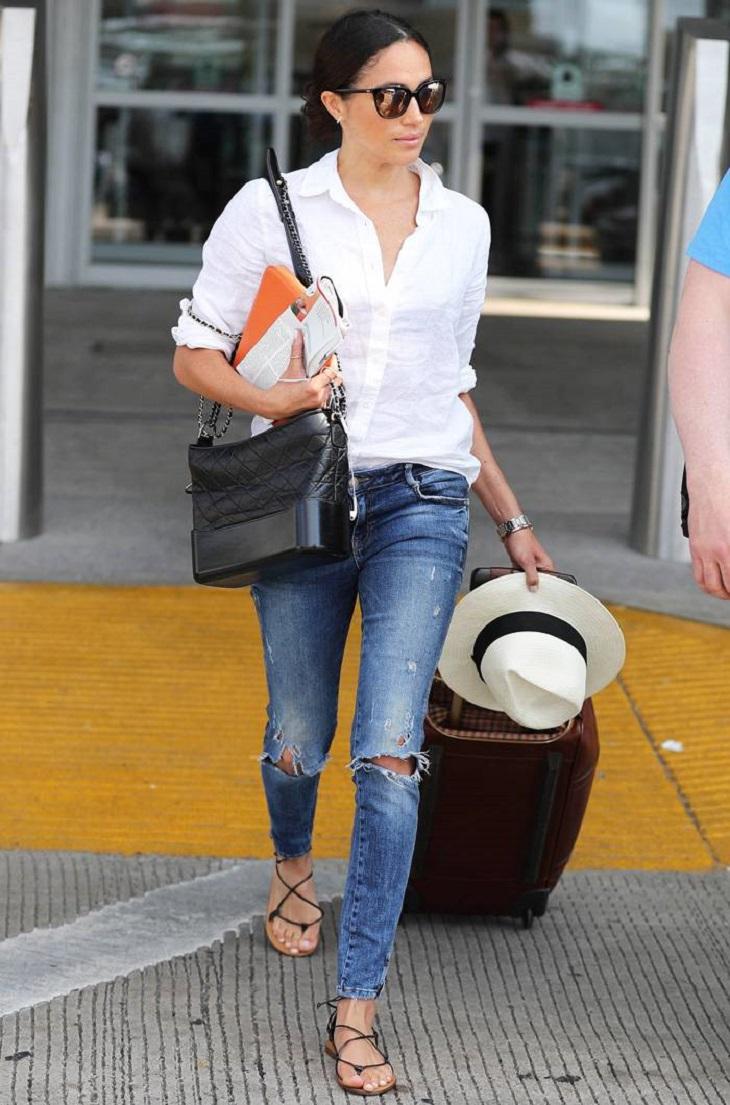 elle việt nam cách chọn giày đến sân bay meghan markle