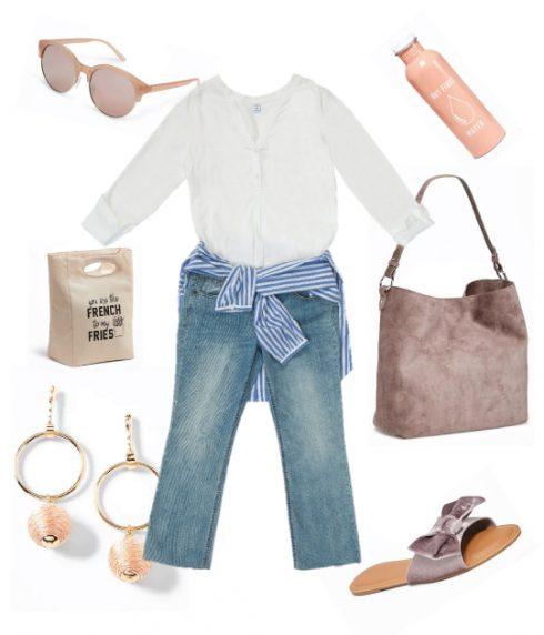 Quần jeans rách gối kết hợp cùng áo sơmi hay áo blouse sẽ là bộ đôi vừa nữ tính vừa cá tính cho những cô nàng hiện đại.