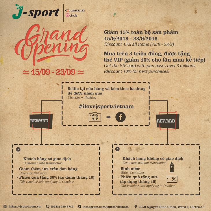 J – SPORT chính thức khai trương cửa hàng đầu tiên tại Việt Nam 01