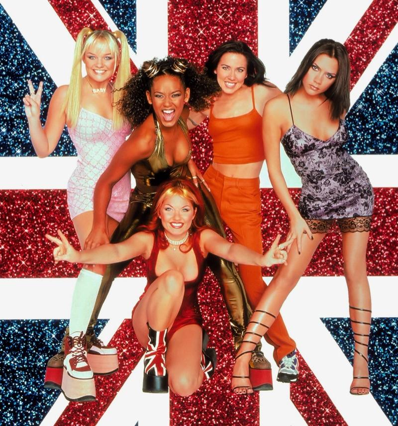 Ảnh poster cho show diễn Spice Girl vào những năm 90s.