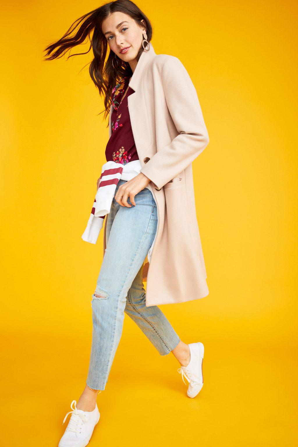 ELLE style calendar quần jeans dáng dài 8