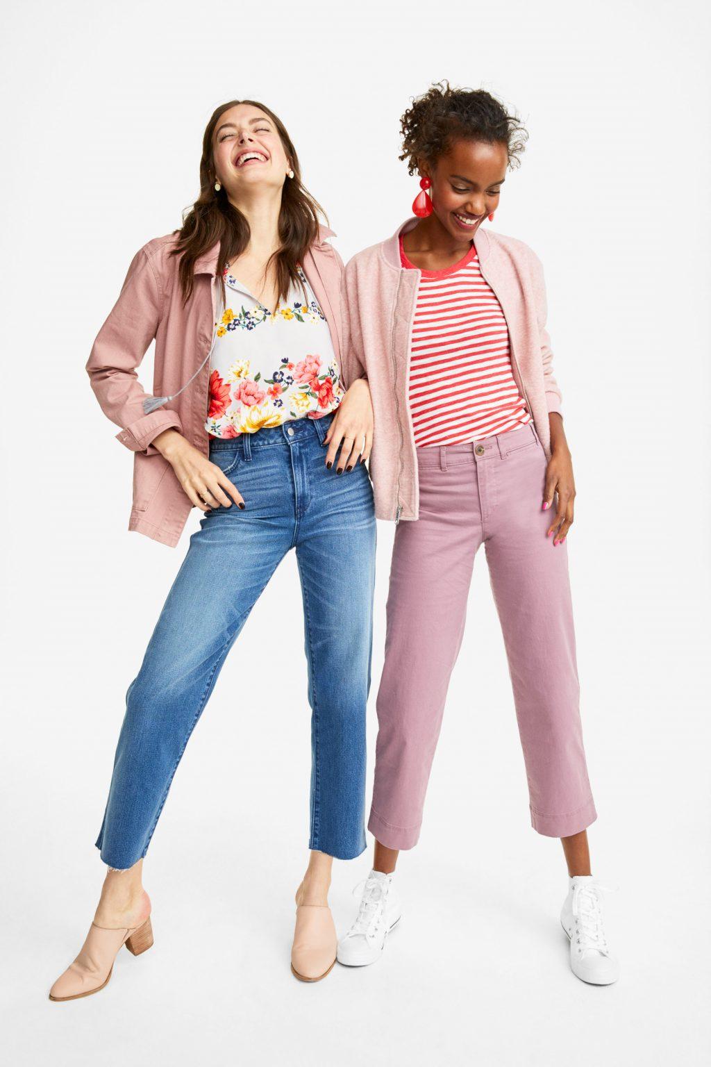 ELLE style calendar quần jeans dáng dài 5