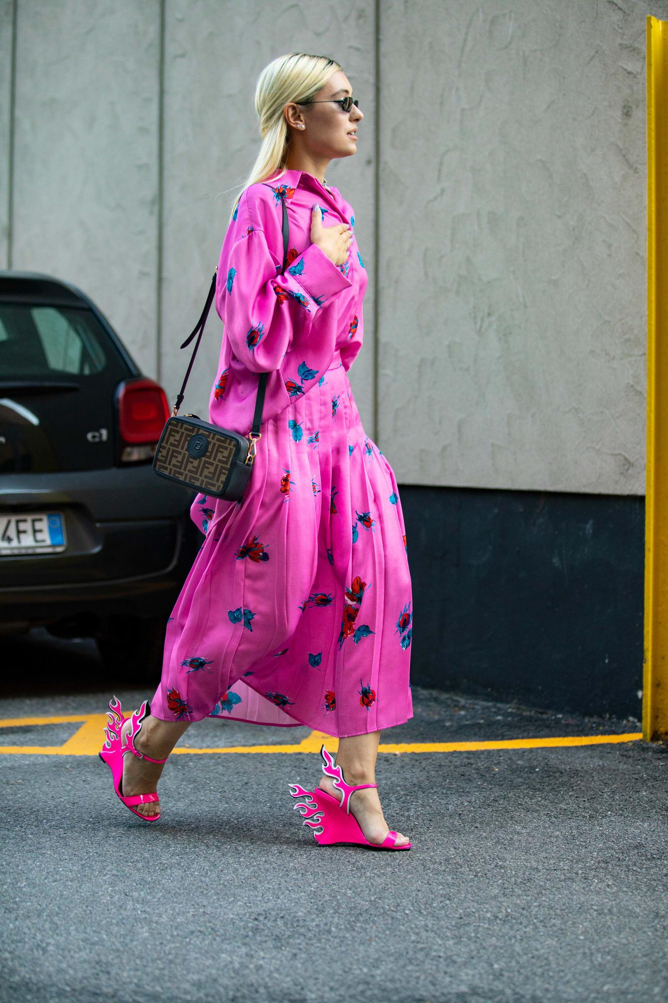 street style tuần lễ thời trang Milan phụ kiện 1