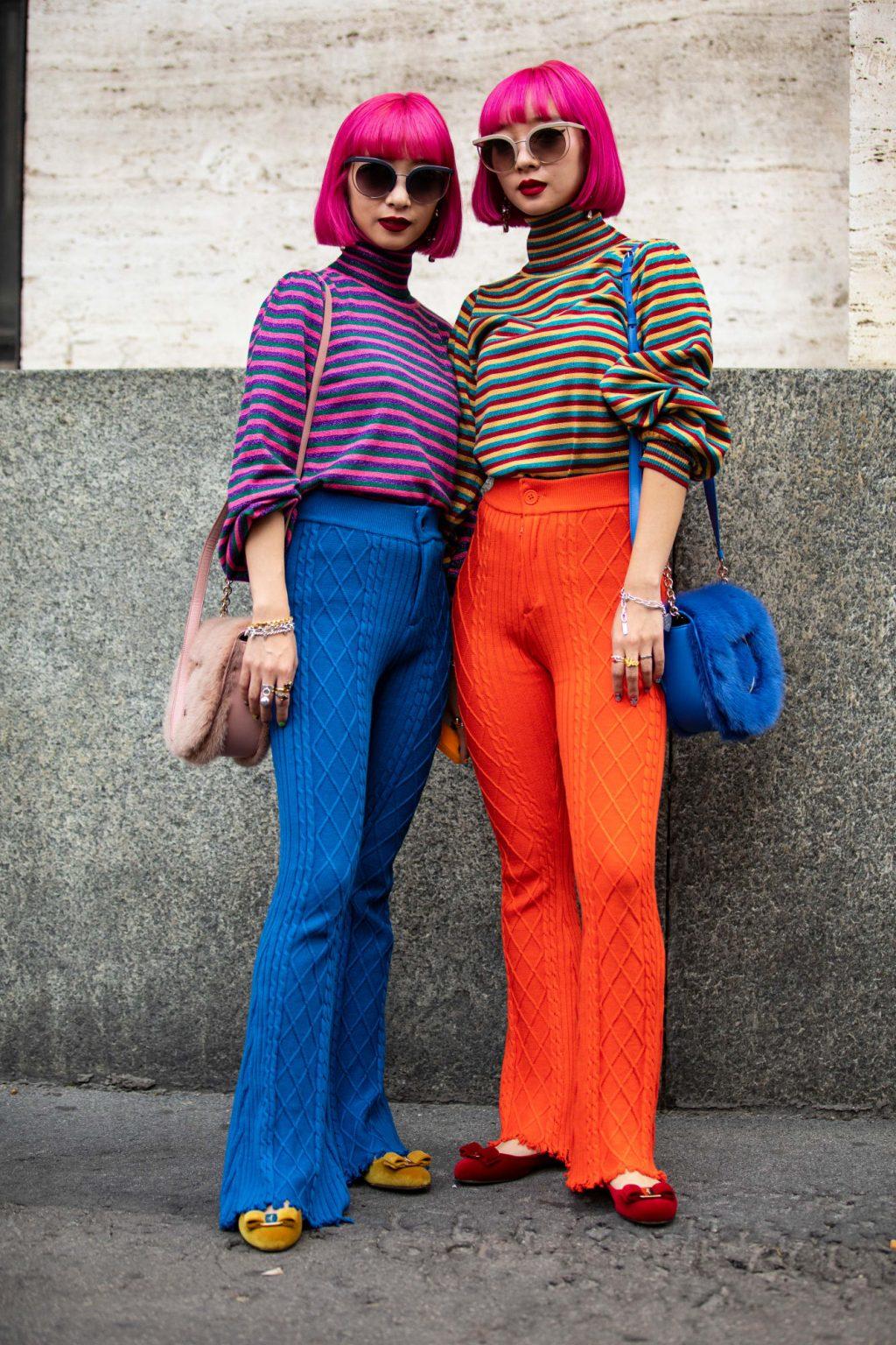 street style tuần lễ thời trang màu sắc nổi bật 15