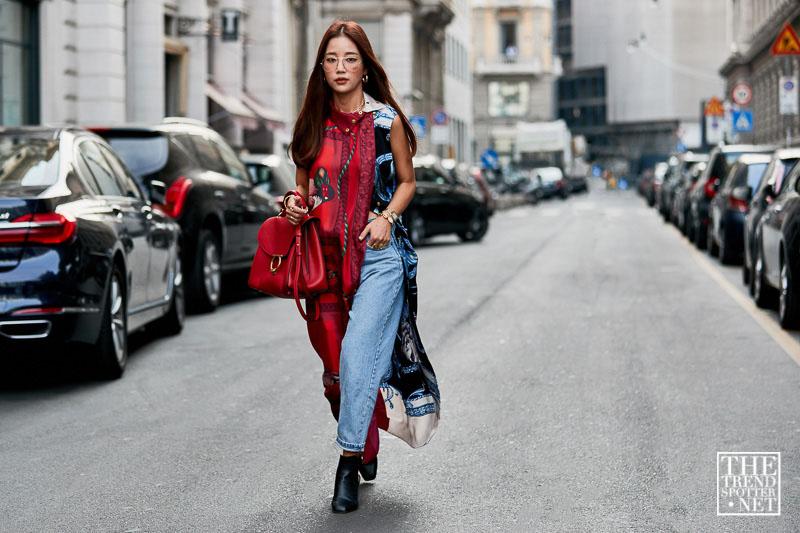 street style tuần lễ thời trang Milan họa tiết 7
