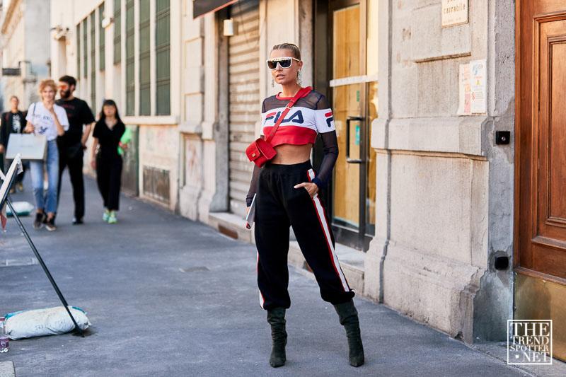 street style tuần lễ thời trang Milan họa tiết 14