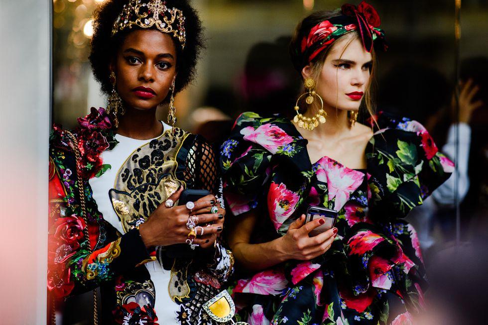 street style tuần lễ thời trang Milan phụ kiện 14