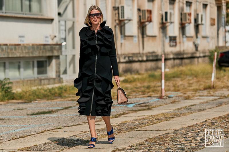 street style tuần lễ thời trang Milan chi tiết phóng đại 6