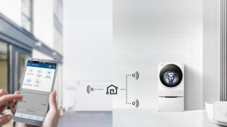 LG giới thiệu máy giặt lồng đôi tích hợp Wi-Fi, điều khiển qua smartphone
