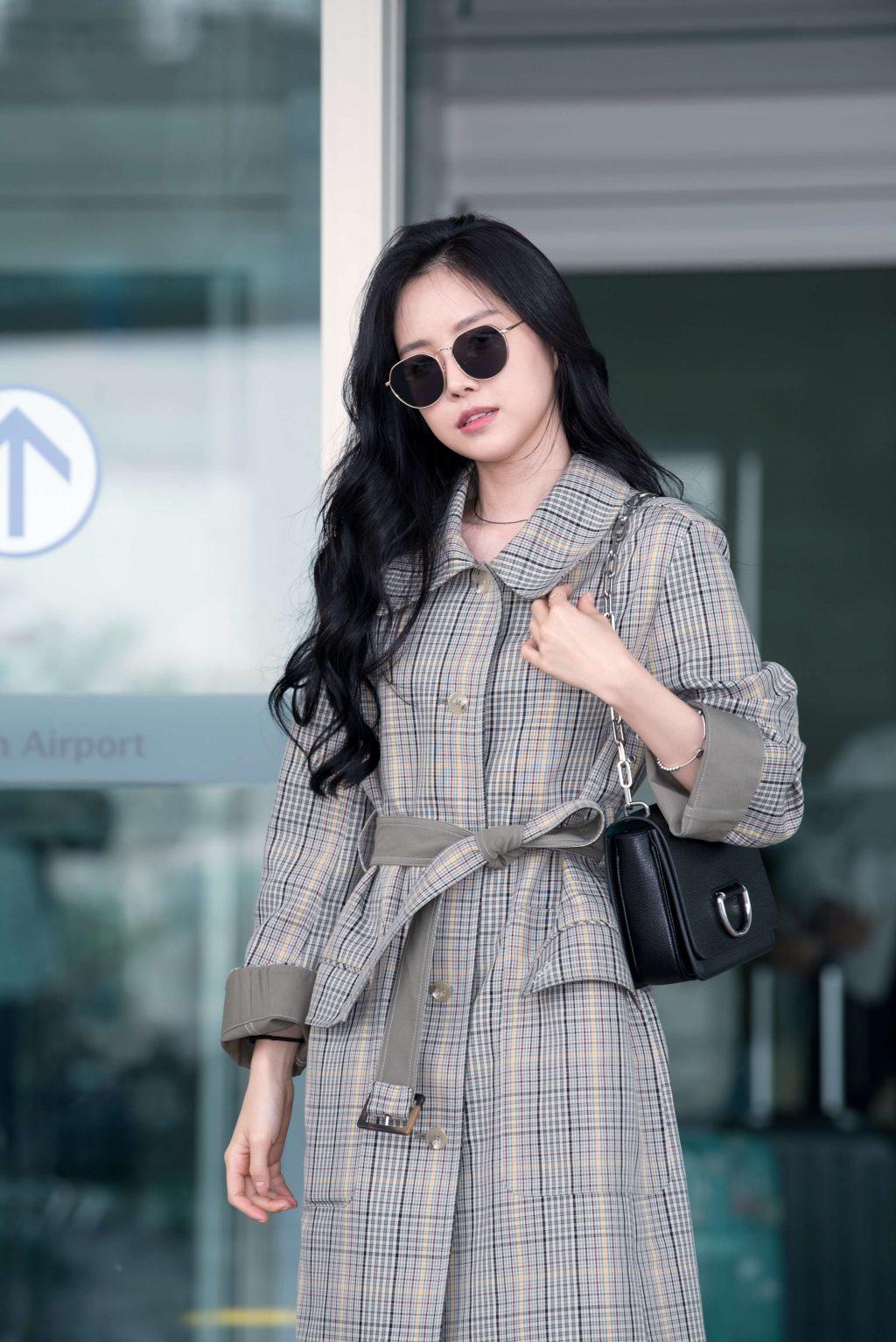 Xu hướng thời trang sân bay sao Hàn mùa Thu 1`