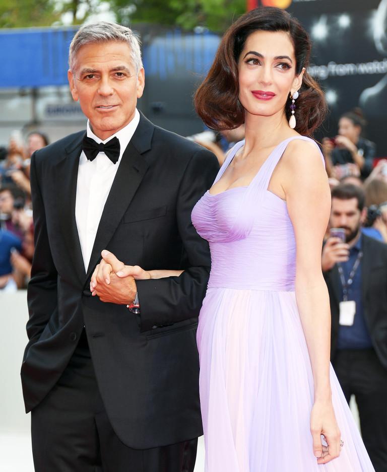 phong cách thời trang cặp đôi Hollywood Amal 03
