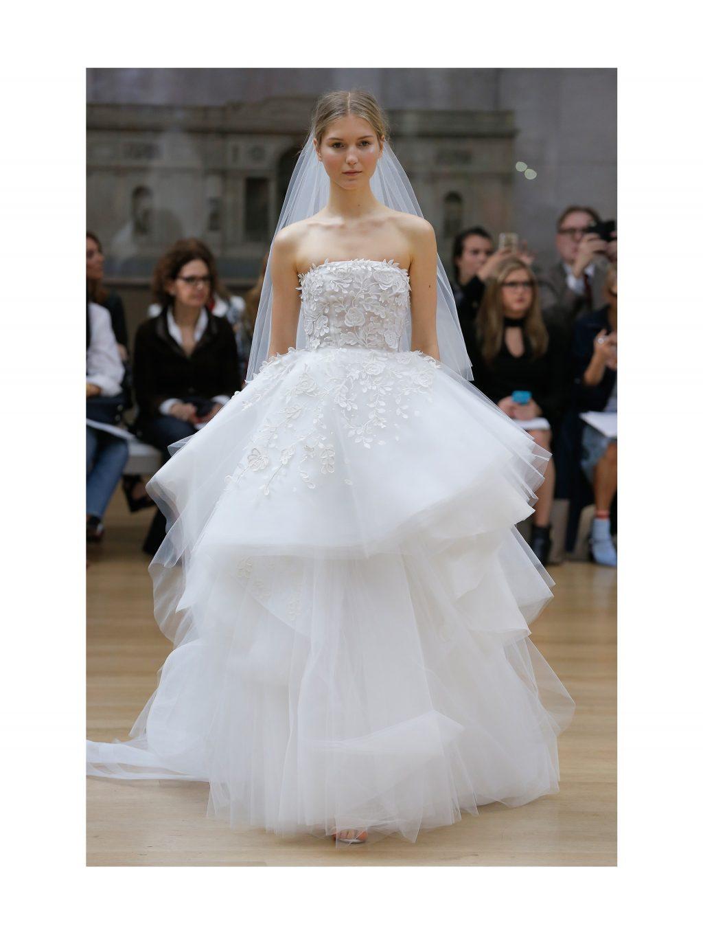 chất liệu váy cưới Oscar de la Renta 01