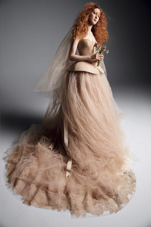 chất liệu váy cưới vera wang