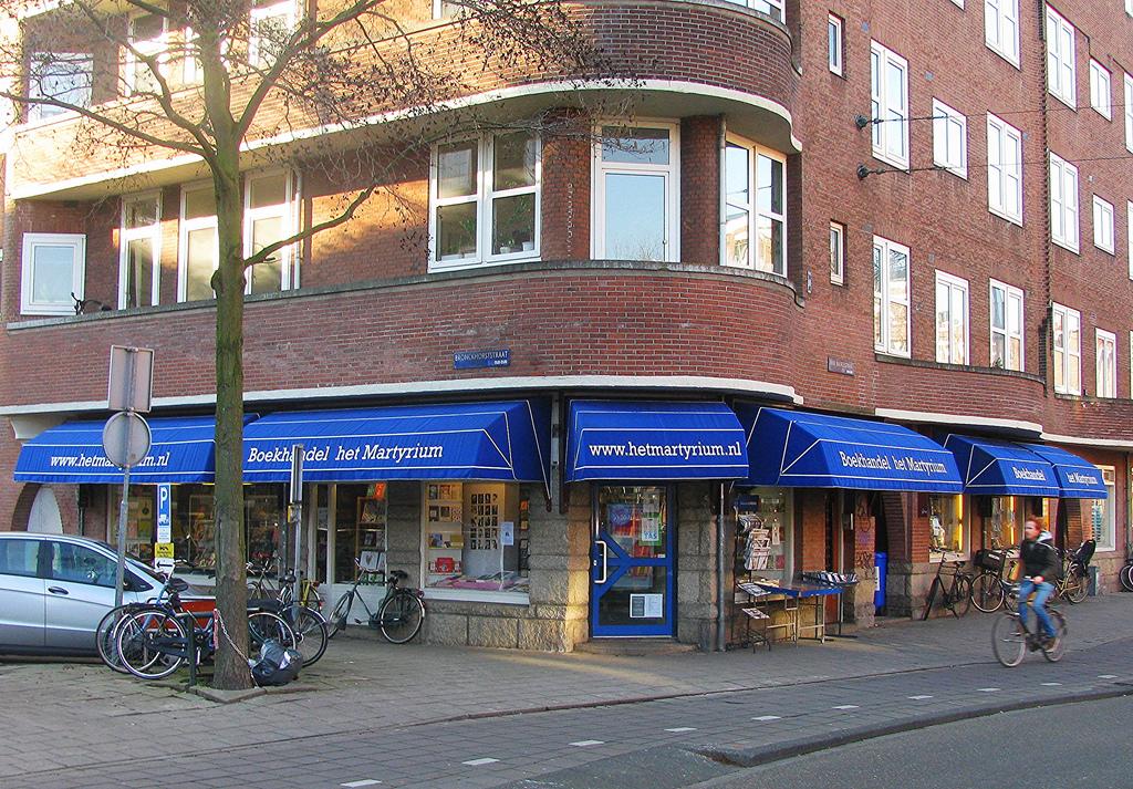 hiệu sách ở thành phố amsterdam