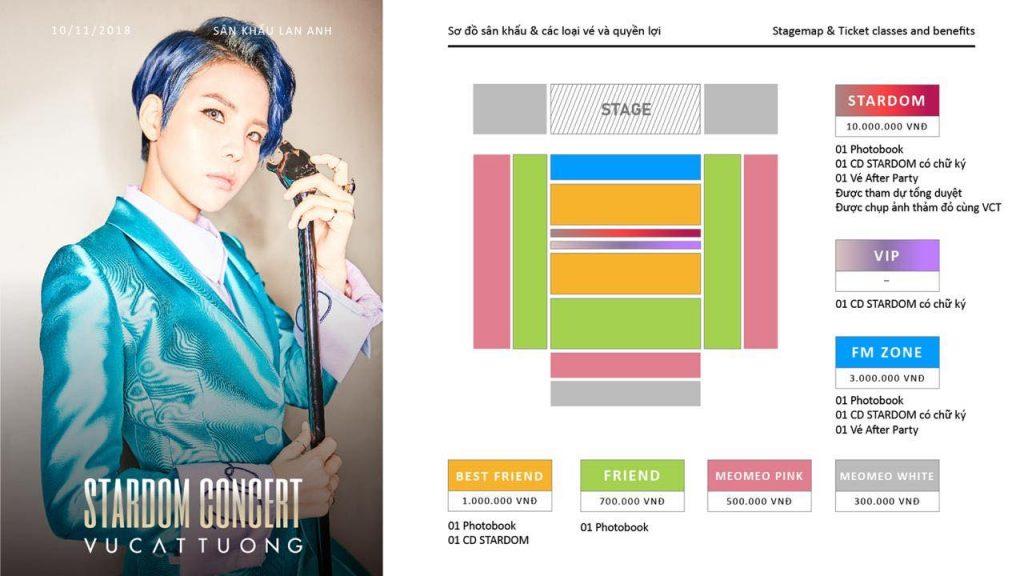 Sau 5 ngày công bố, hạng vé đắt đỏ nhất concert Vũ Cát Tường cháy vé 6