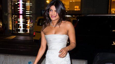 Hoa hậu thế giới Priyanka Chopra diện trang sức triệu đô trong buổi tiệc trước đám cưới