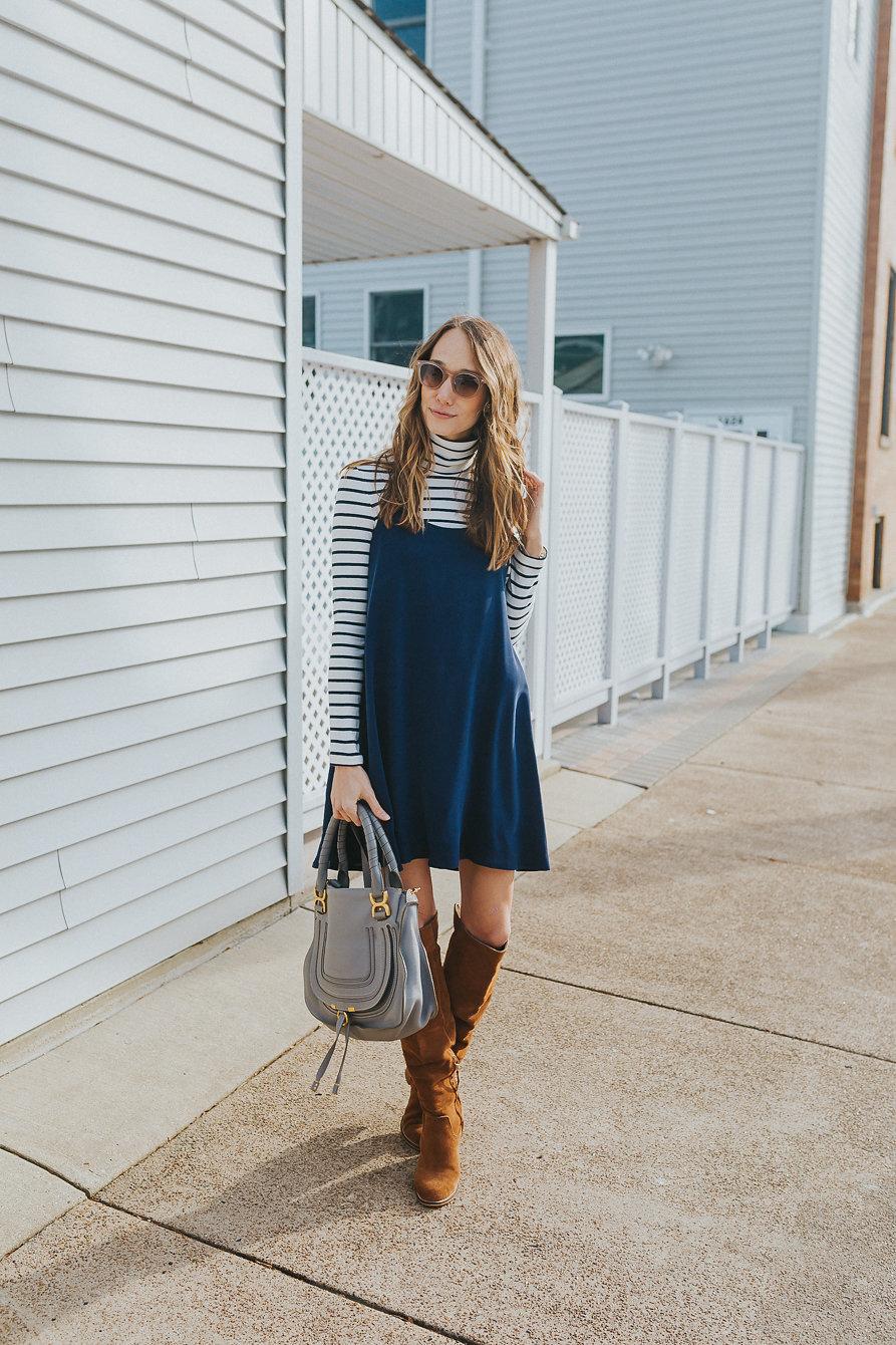 Áo cổ lọ và váy slip dress 5