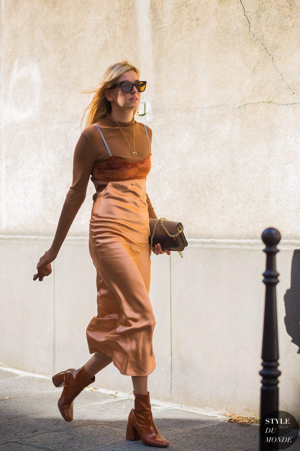 Áo cổ lọ và váy slip dress 7