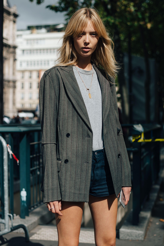 phong cách thời trang menswear áo blazer mặc cùng quần shorts