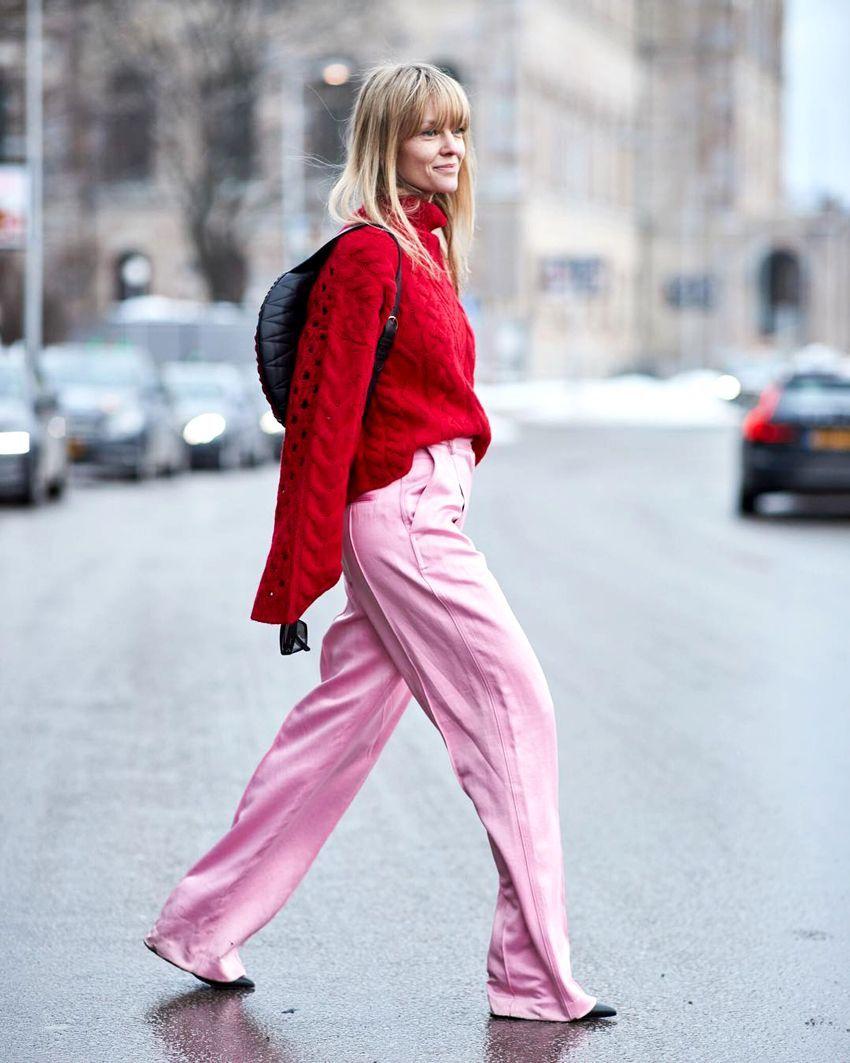 phối màu trang phục với gam đỏ  18