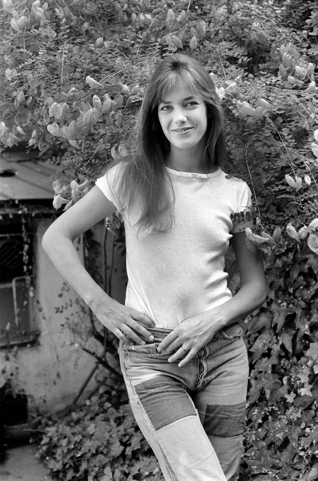 áo thun trắng ngắn tay Jane Birkin