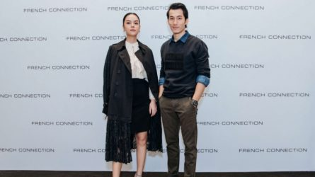 Pham Quynh Anh and Associated Press on the launch of the French Connection Autumn-Winter 2018 collection