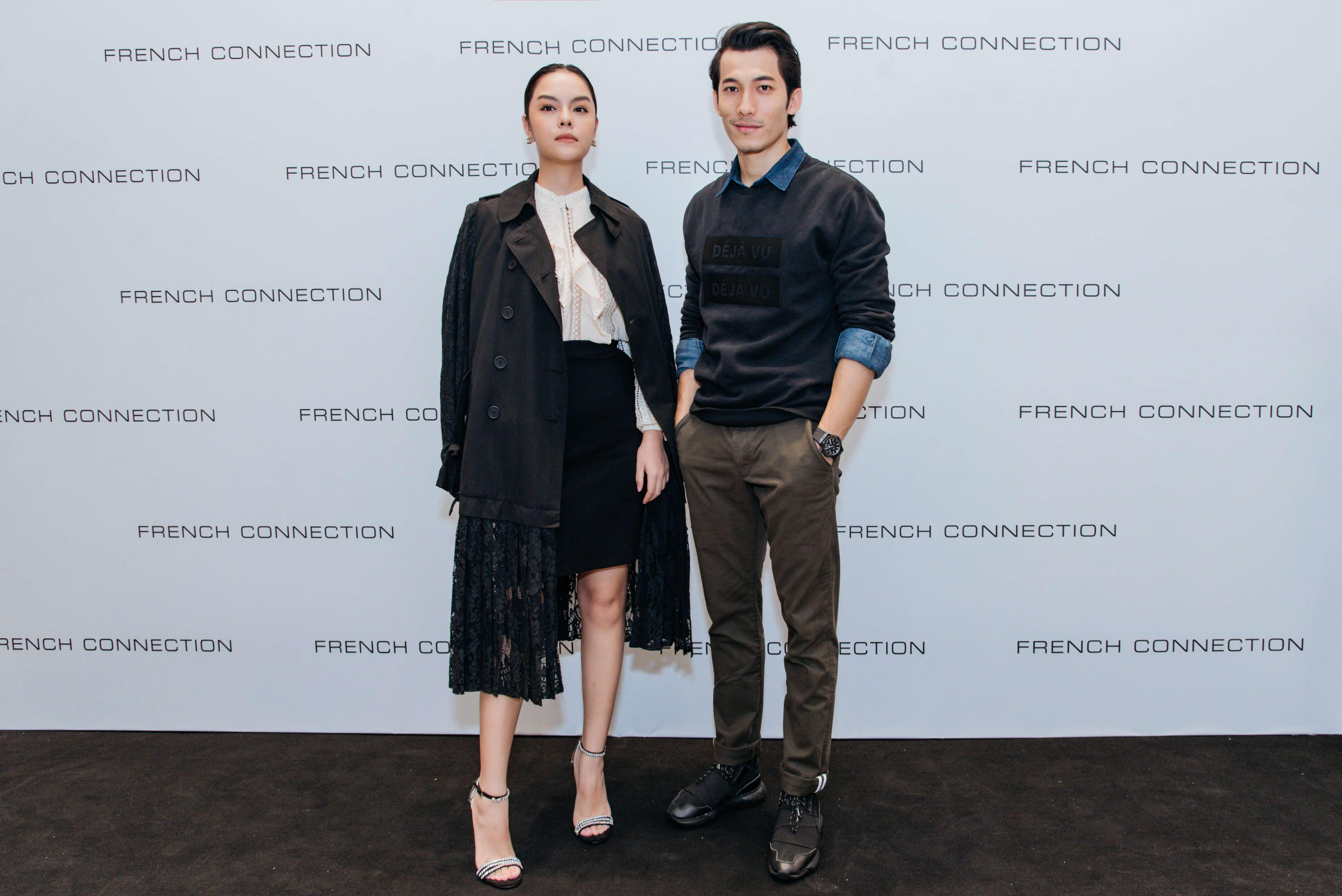 Phạm Quỳnh Anh và Liên Bỉnh Phát tại sự kiện ra mắt BST Thu - Đông 2018 của thương hiệu French Connection