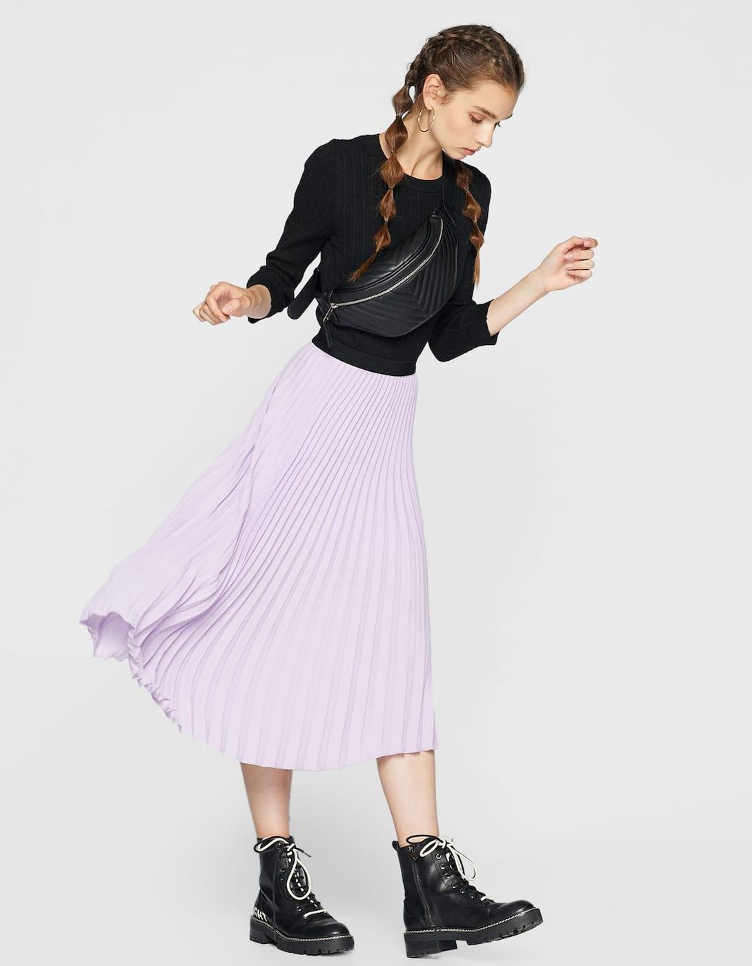 thời trang cung hoàng đạo màu tím
