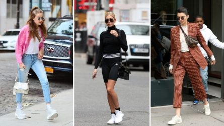 Mặc đẹp với giày tennis trắng - món đồ