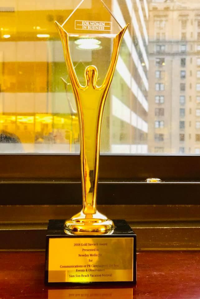 Newday Media JSC đạt cúp vàng giải thưởng Stevie® Awards 4